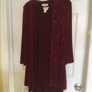 Ladies sleeveless dress with coat